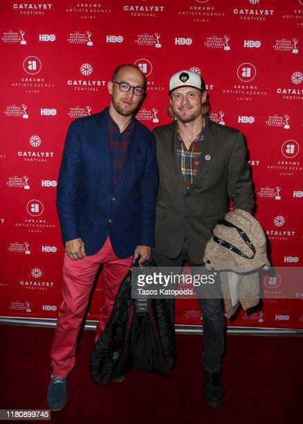 Matt Roy and Dan Olson attend the Catalyst Content Awards Gala on October 13 2019 in Duluth Minnesota
