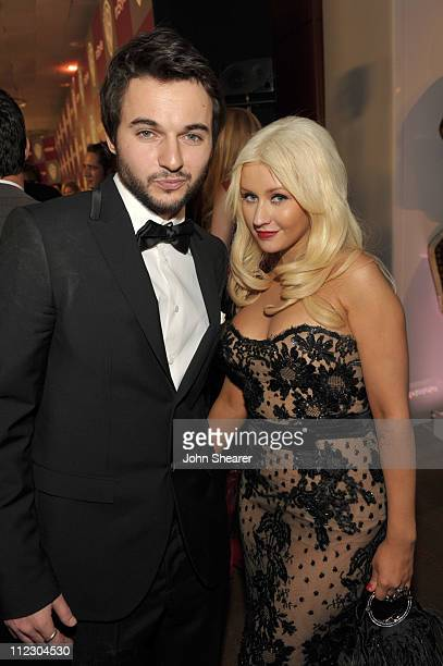 Matt Rutler and Christina Aguilera attend the InStyle and Warner Bros 68th annual Golden Globe awards postparty at The Beverly Hilton hotel on...