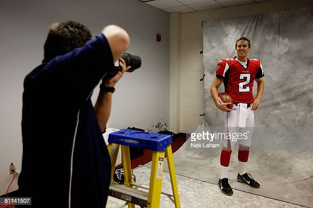 Matt Ryan of the Atlanta Falcons is photographed during a photo shoot at the 2008 NFL Players Rookie Premiere at the Los Angeles Memorial Coliseum...