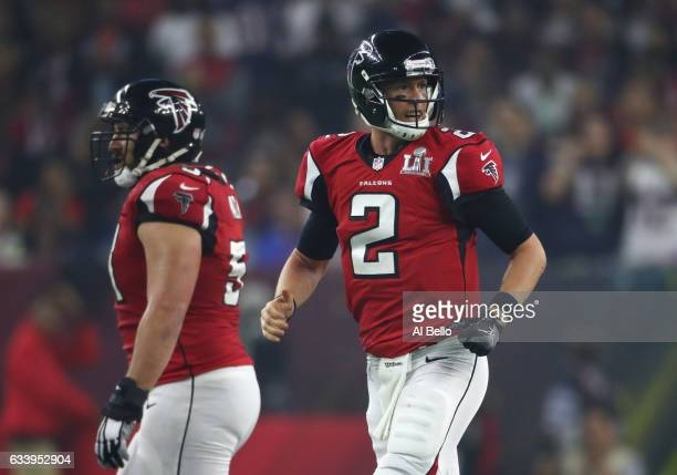 Matt Ryan of the Atlanta Falcons looks on during the fourth quarter against the New England Patriots during Super Bowl 51 at NRG Stadium on February...