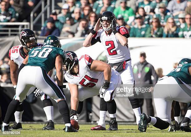Matt Ryan of the Atlanta Falcons plays against the Philadelphia Eagles at Lincoln Financial Field on November 13 2016 in Philadelphia Pennsylvania...