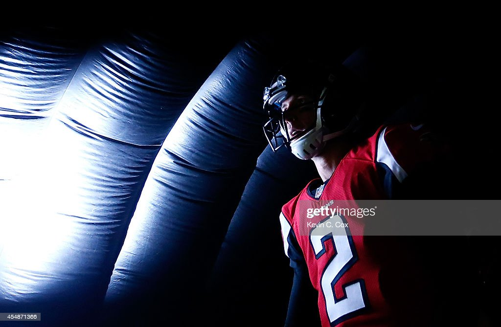Matt Ryan #2 of the Atlanta Falcons waits for pregame introductions prior to facing the New Orleans Saints at Georgia Dome on September 7, 2014 in Atlanta, Georgia.