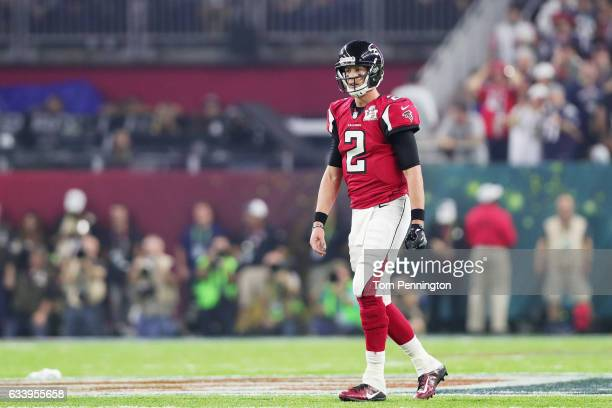 Matt Ryan of the Atlanta Falcons walks on the field in the fourth quarter during Super Bowl 51 at NRG Stadium on February 5 2017 in Houston Texas