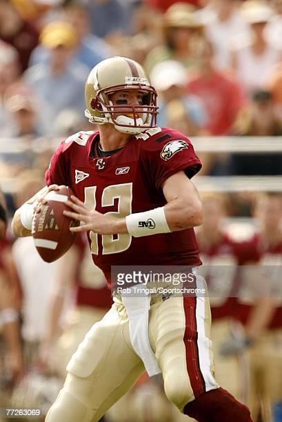 Matt Ryan of the Boston College Eagles passes against the Bowling Green Falcons on October 6, 2007 at Alumni Stadium in Chestnut Hill, Massachusetts....