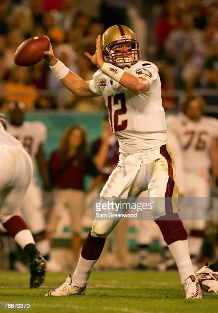 Matt Ryan of the Boston College Eagles throws a pass during the Champs Bowl against the Michigan State Spartans at the Citrus Bowl December 28 2007...