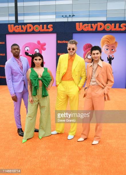 Matt Sallee Kirstin Maldonado Scott Hoying and Mitch Grassi of Pentatonix attend STX Films World Premiere of UglyDolls at Regal Cinemas LA Live on...