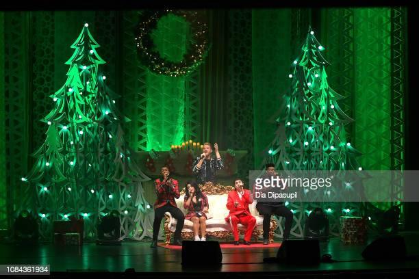 Matt Sallee Kirstin Maldonado Scott Hoying Mitch Grassi and Kevin Olusola of Pentatonix perform onstage at The Beacon Theatre on December 18 2018 in...