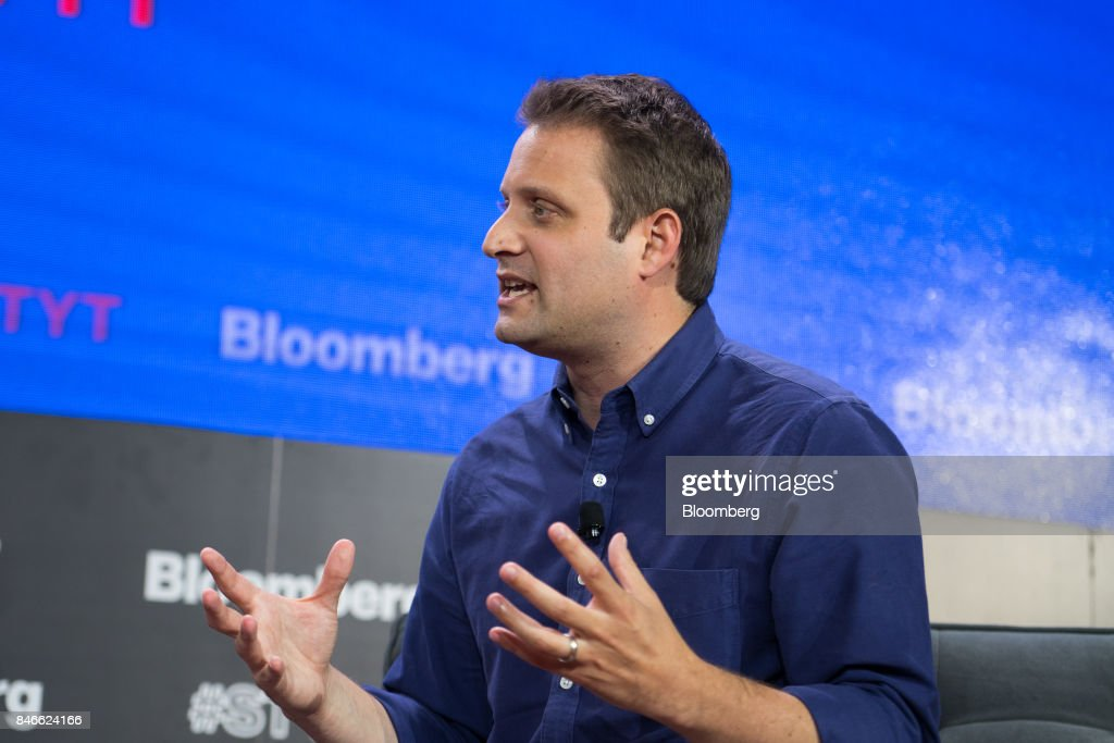 Matt Salzberg, co-founder and chief executive officer of Blue Holdings Inc., speaks during a Bloomberg Technology event in New York, U.S., on Wednesday, Sept. 13, 2017. The event, titled Sooner Than You Think at Cornell Tech, spotlights the technology leaders who are grappling with the challenges of disruptive technology and uncovering hidden opportunities. Photographer: Misha Friedman/Bloomberg via Getty Images
