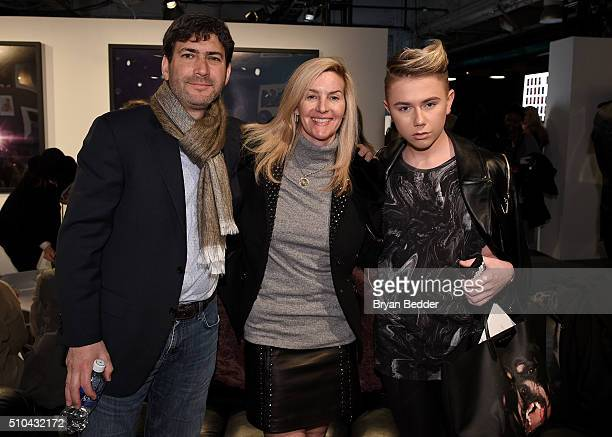 Matt Sarafa and guests attend the E VIP Experience on Day 5 of New York Fashion Week The Shows at Skylight at Moynihan Station on February 15 2016 in...