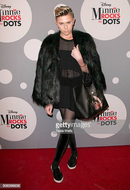 Matt Sarafa attends Minnie Rocks the Dots art and fashion exhibit on National Polka Dot Day in downtown Los Angeles Celebrating the signature style...