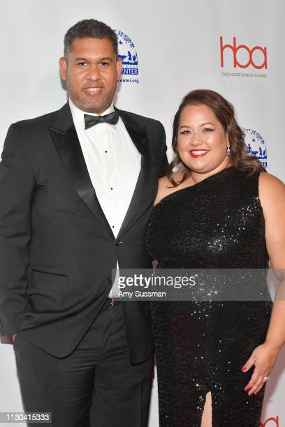 Matt Sayles and his wife attend the Hollywood Beauty Awards at Avalon Hollywood on February 17 2019 in Los Angeles California