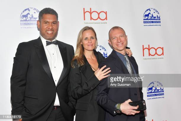Matt Sayles Axelle Woussen and Mario Anzuoni attend the Hollywood Beauty Awards at Avalon Hollywood on February 17 2019 in Los Angeles California