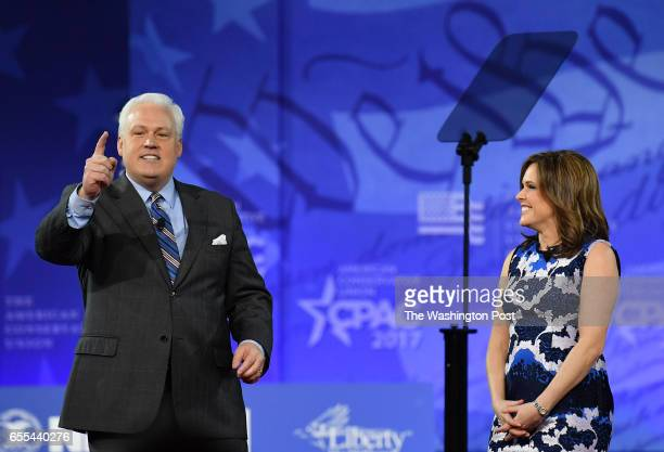 Matt Schlapp and his wife Mercedes Schlapp during CPAC at the Gaylord National Resort Convention Center on February 24 2017 in Oxon Hill Md