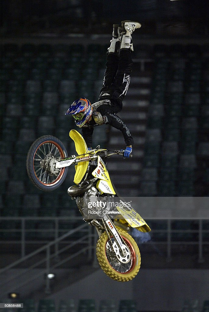 Matt Schubring in action during a media call for the Crusty Demons Nine Lives Tour May 20, 2004 at the Rod Laver Arena in Melbourne, Australia.