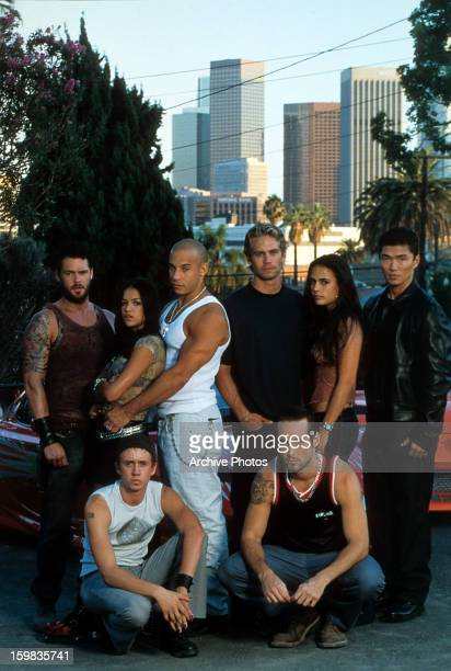 Matt Schulze Chad Lindberg Michelle Rodriguez Vin Diesel Paul Walker Johnny Strong Jordana Brewster and Rick Yune in publicity portrait for the film...