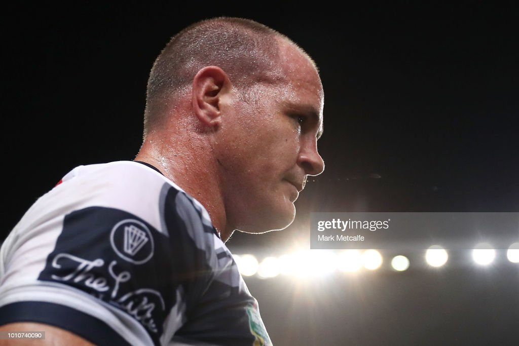 Matt Scott of the Cowboys looks on during the round 21 NRL match between the Sydney Roosters and the North Queensland Cowboys at Allianz Stadium on August 4, 2018 in Sydney, Australia.