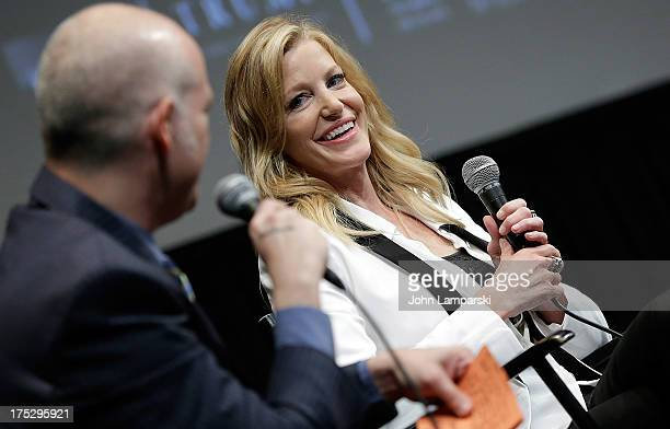 Matt Seitz and Anna Gunn attend the 'Breaking Bad' Panel Discussion at The Film Society of Lincoln Center on August 1 2013 in New York City
