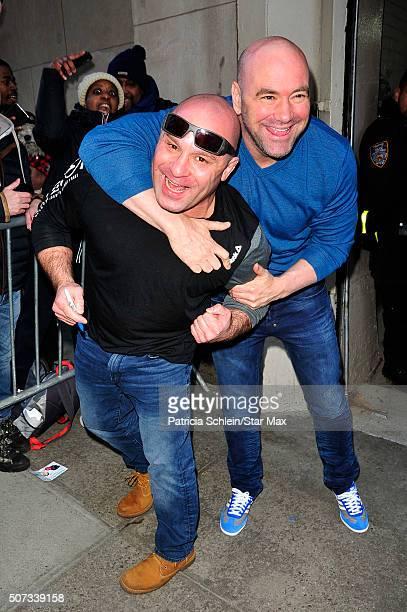 Matt Serra and Dana White are seen on January 28 2016 in New York City