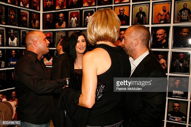 Matt Serra Anne Serra Teresa Fertitta and Lorenzo Fertitta attend OCTAGON THE EXHIBITION at VAN DE WEGHE Fine Art at Van De Weghe on September 25...