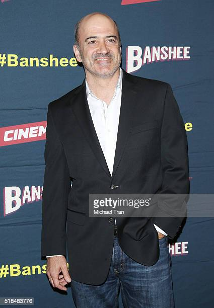 Matt Servitto arrives at the Los Angeles premiere of Cinemax's Banshee the 4th and final season held at UTA on March 31 2016 in Beverly Hills...
