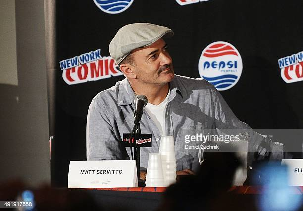 Matt Servitto attends the Banshee panel at New York ComicCon 2015 at The Jacob K Javits Convention Center on October 8 2015 in New York City