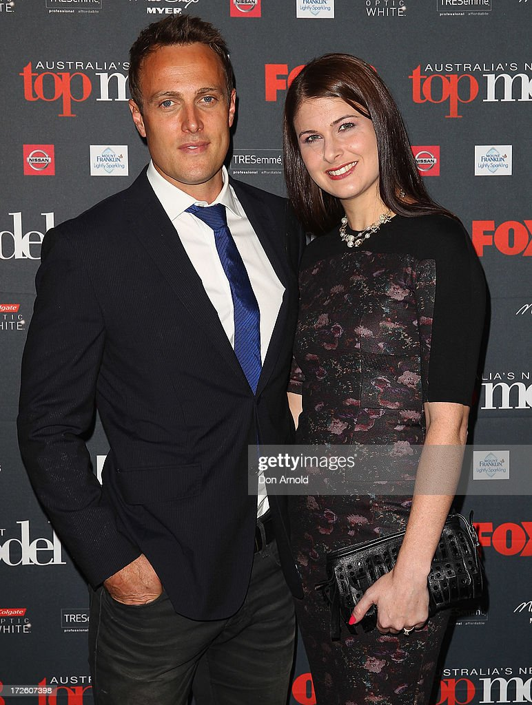 Matt Shirvington and Jessica Shirvington pose at the launch of Australia's Next Top Model Season 8 at Doltone House on July 4, 2013 in Sydney, Australia.