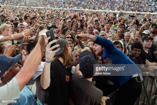 Matt Shultz of Cage the Elephant performs at 'A Concert for Charlottesville' at University of Virginia's Scott Stadium on September 24 2017 in...