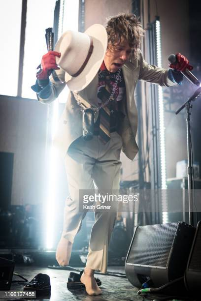 Matt Shultz of Cage the Elephant performs at Ruoff Home Mortgage Music Center on August 04 2019 in Noblesville Indiana