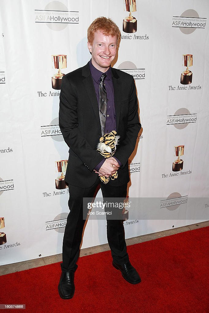 Matt Shumway arrives at the 40th Annual Annie Awards at Royce Hall on the UCLA Campus on February 2, 2013 in Westwood, California.