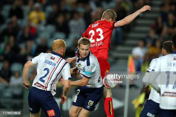 Matt Simon of the Central Coast Mariners controls the ball during the FFA Cup 2019 Semi Final between the Central Coast Mariners and Adelaide United...