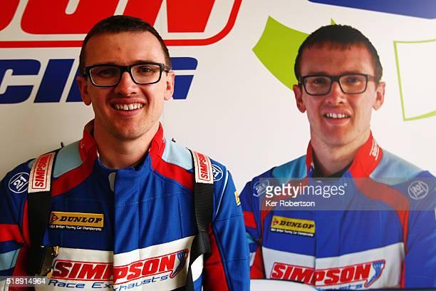 Matt Simpson of Speedworks Motorsport Honda prepares to drive during race three of the Dunlop MSA British Touring Car Championship at Brands Hatch on...