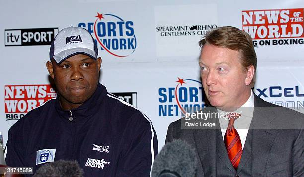Matt Skelton and Frank Warren during Boxing Matt Skelton vs Danny Williams News Conference February 23 2006 at The Landmark Hotel in London Great...