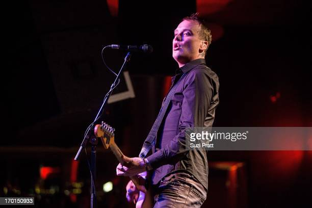 Matt Skiba of Alkaline Trio performs live on June 7 2013 at the Showbox at the Market in Seattle Washington