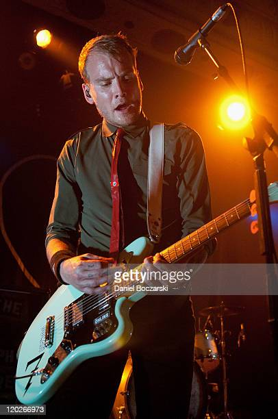 Matt Skiba of Alkaline Trio performs on stage at Metro on August 2 2011 in Chicago Illinois