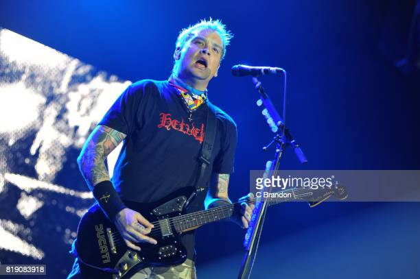 Matt Skiba of Blink 182 performs on stage at the O2 Arena on July 19 2017 in London England