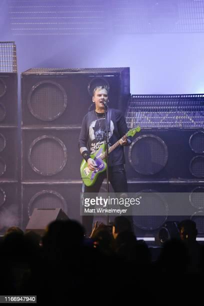 Matt Skiba of Blink182 perform at The Forum on August 08 2019 in Inglewood California