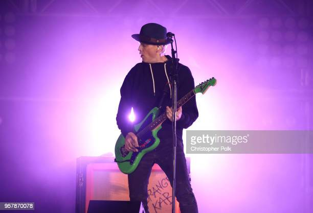 Matt Skiba of blink182 performs onstage at KROQ Weenie Roast 2018 at StubHub Center on May 12 2018 in Carson California
