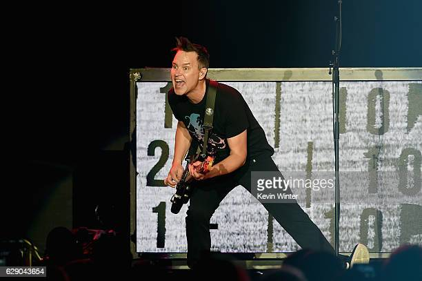 Matt Skiba of the band Blink 182 performs onstage at 1067 KROQ Almost Acoustic Christmas 2016 Night 1 at The Forum on December 10 2016 in Inglewood...