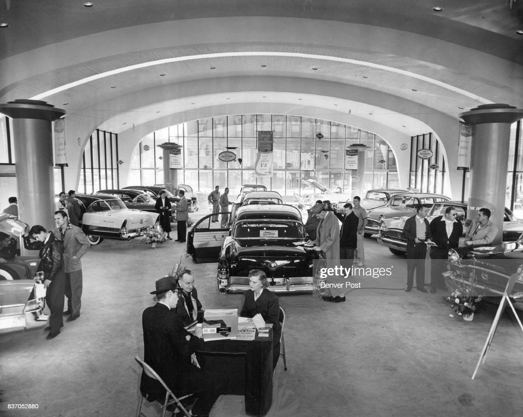 Matt Skorey Packard agency is staging an automobile show in the ...