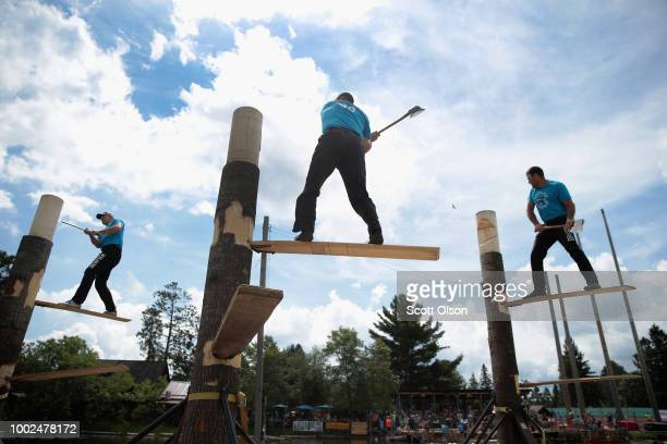 Matt Slingerland , from Troy North Carolina, Nate Hodges , from North Folk, California and Walt Page, from Tollhouse, California compete in a...