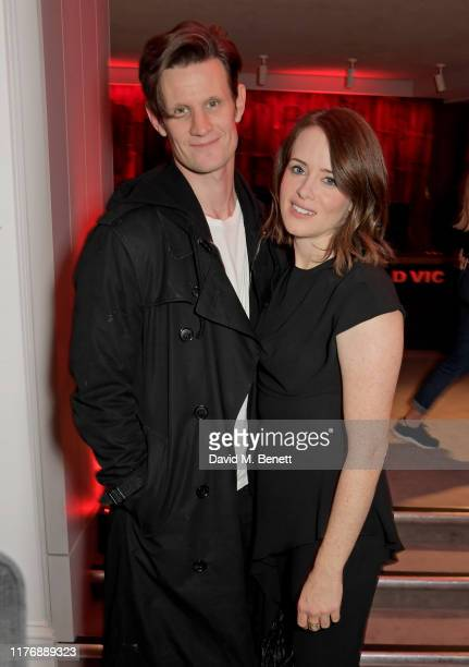 Matt Smith and Claire Foy attend the press night after party for Lungs at The Old Vic Theatre on October 19 2019 in London England