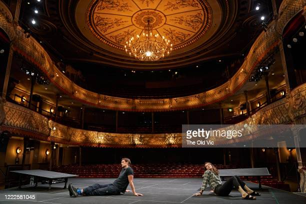 Matt Smith and Claire Foy during a socially distanced dress rehearsal of 'Lungs' at The Old Vic Theatre on June 24, 2020 in London, England. The live...