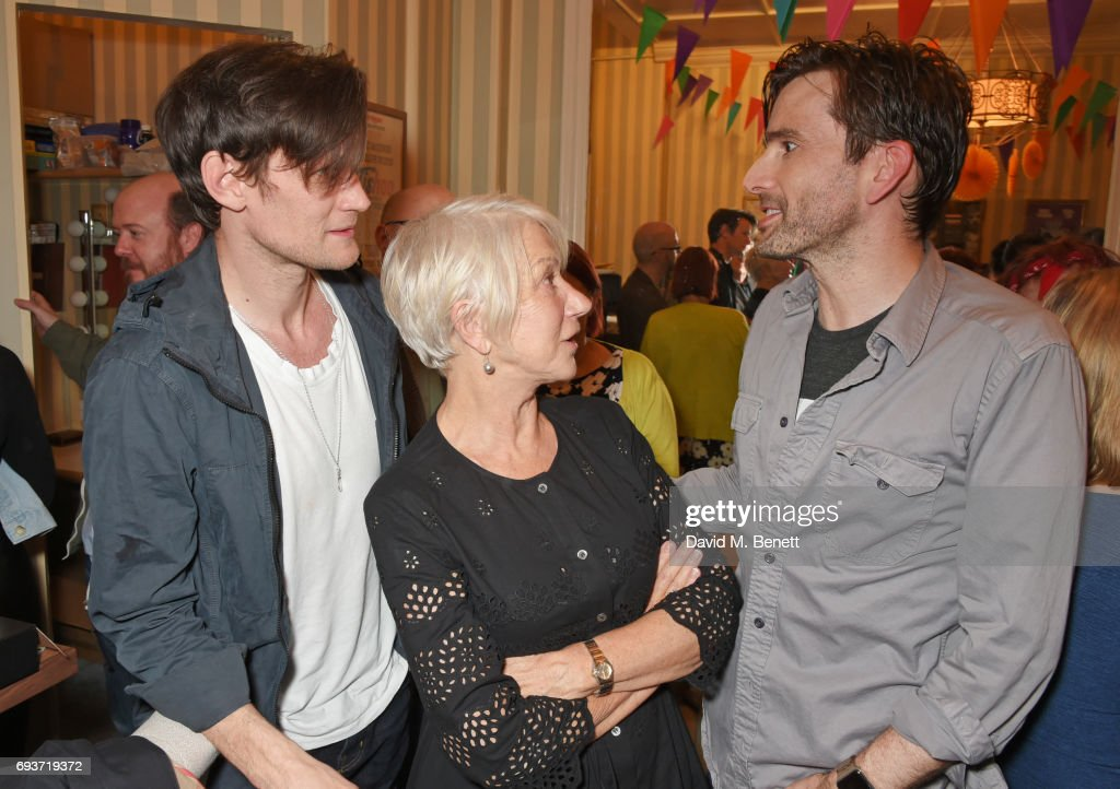 "Dame Helen Mirren & Matt Smith Visit David Tennant At ""Don Juan In Soho"" : News Photo"