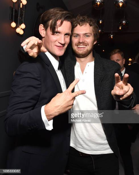 Matt Smith and Finn Jones attend the 2018 Netflix Primetime Emmys After Party at NeueHouse Hollywood on September 17 2018 in Los Angeles California