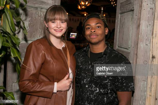Matt Smith and guest attend the MetaLife Launch Influencer Dinner at Bacari W 3rd on November 17 2019 in Los Angeles California