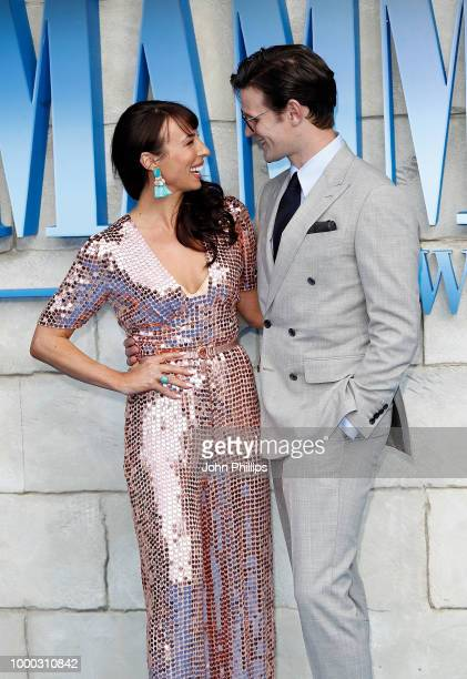Matt Smith and guest attend the UK Premiere of Mamma Mia Here We Go Again at Eventim Apollo on July 16 2018 in London England