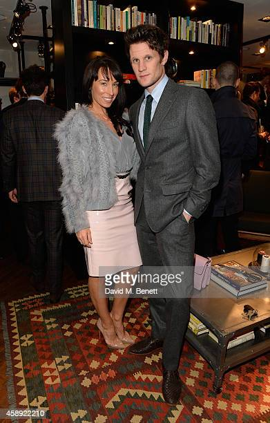 Matt Smith and his sister Laura attend the opening of the new Thom Sweeney RTW & MTM Store on November 13, 2014 in London, England.