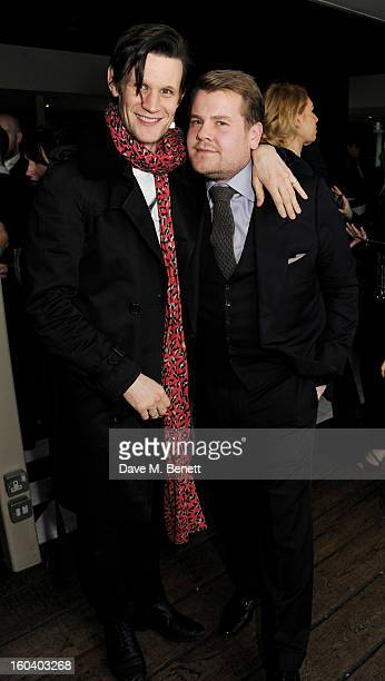 Matt Smith and James Corden attend the InStyle Best Of British Talent party in association with Lancome and Avenue 32 at Shoreditch House on January...