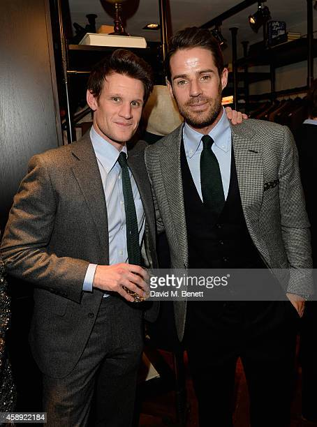 Matt Smith and Jamie Redknapp attend the opening of the new Thom Sweeney RTW MTM Store on November 13 2014 in London England