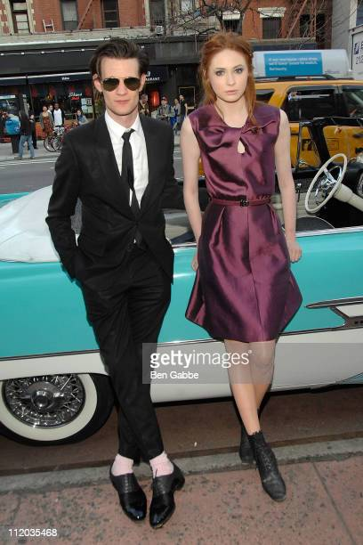Matt Smith and Karen Gillan attend the Doctor Who Season 6 premiere screening at the Village East Cinema on April 11 2011 in New York City